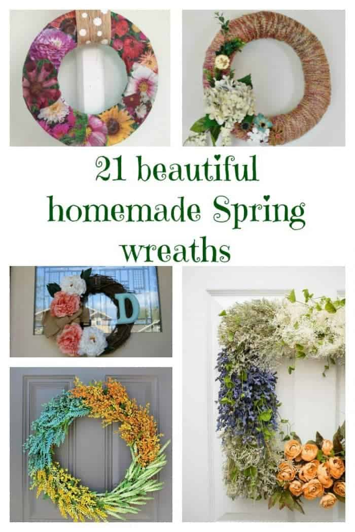 21 beautiful homemade Spring wreaths