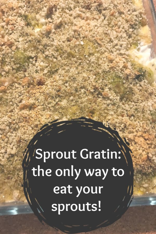 How to make sprout gratin