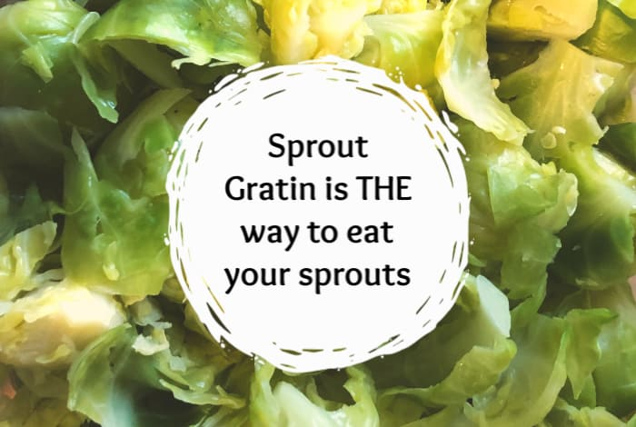 Sprout Gratin is THE way to eat your sprouts! It's easy to make and so tasty (if you're a sprout lover).