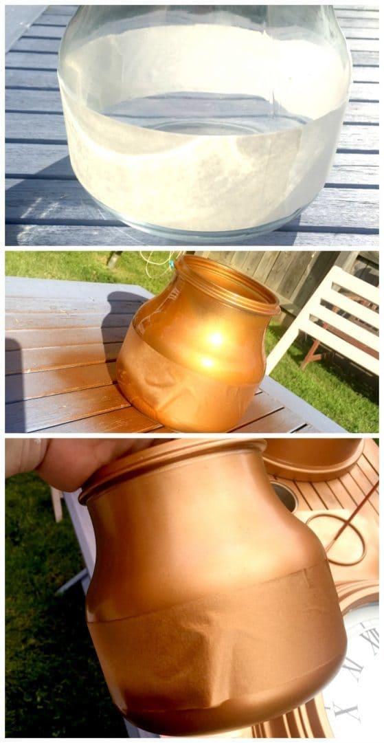Step by Step DIY Painted Glass Vase