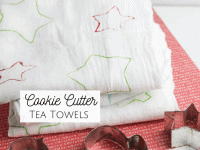 Cute Christmas Cookie Cutter Tea Towels...