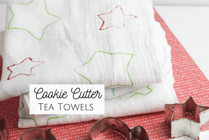 Super Cute Christmas Cookie Cutter Tea Towels..