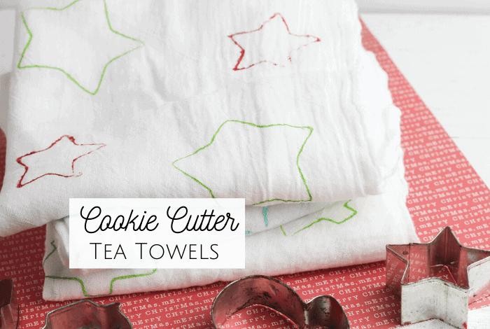 Super Cute Christmas Cookie Cutter Tea Towels..
