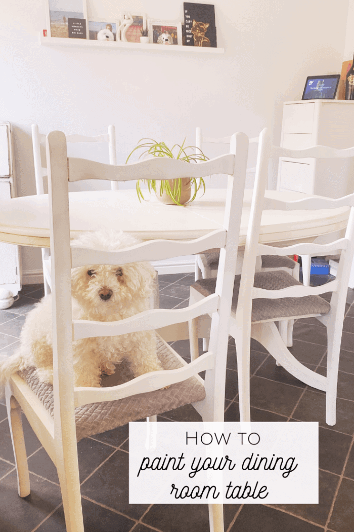 How to paint your dining room table