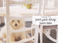 How to paint your dining room table....