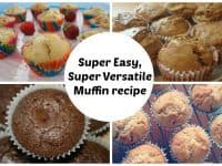 Easy muffin recipe - perfect for whatever flavour muffins you're making....