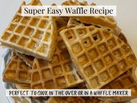 Super Easy Waffle Recipe {Suitable for the oven or a wafflemaker}....