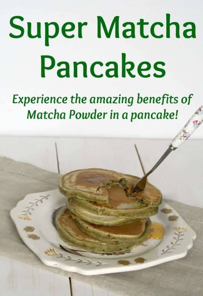 Experience the amazing benefits of Matcha Powder in a pancake!