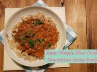 Super Simple Slow Cooker Vegetarian Curry Recipe....