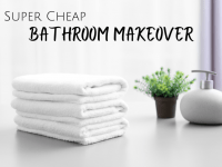 Super cheap bathroom makeover...