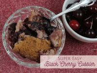 Super Easy Black Cherry Cobbler Recipe....