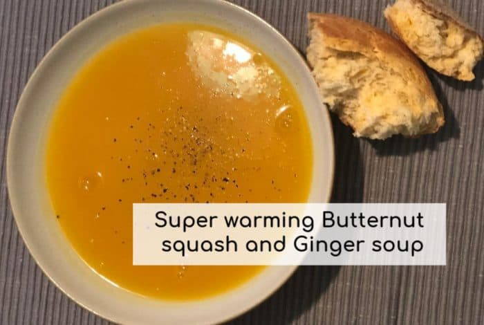 Super warming Butternut squash and Ginger soup