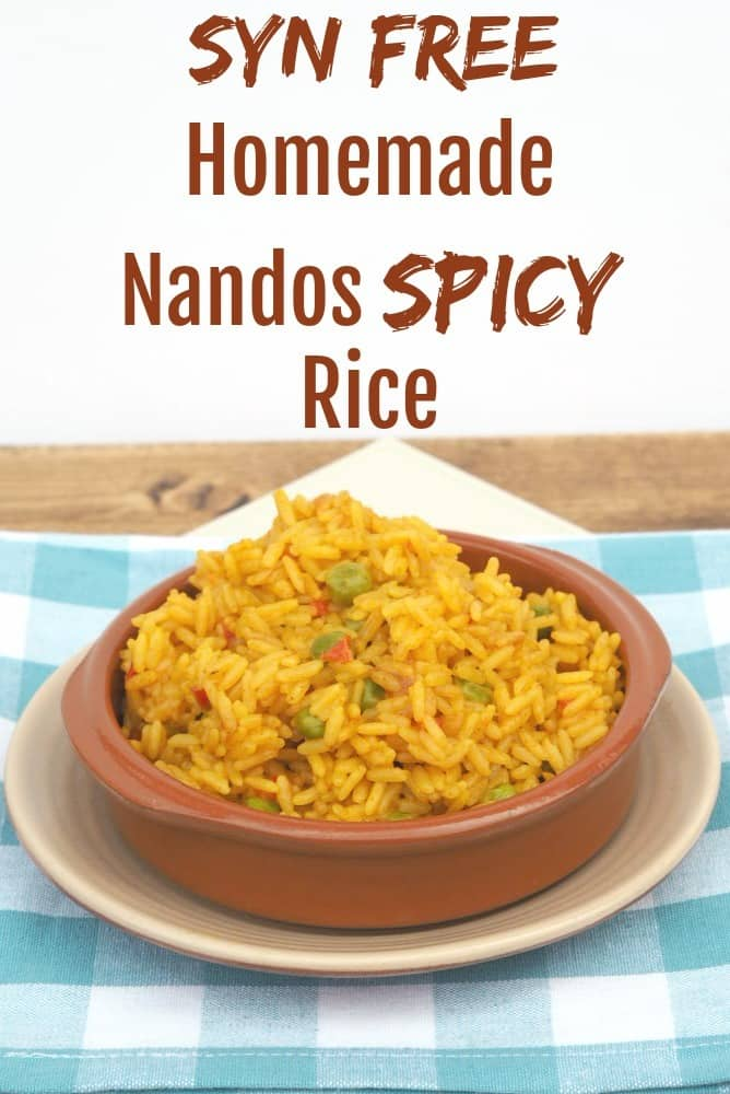 Homemade Nandos Spicy Rice - an amazing fakeaway recipe for all the family to enjoy. You definitely want to add this to you weekly meal plan....