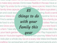 85 things to do with your family this year....