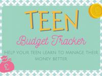 Teen Budget Tracker....