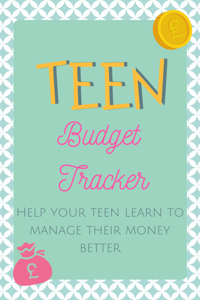 This Teen Budget Tracker is exactly what you need to help your teen learn to manage their money better!