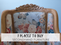 The best places to buy secondhand furniture....