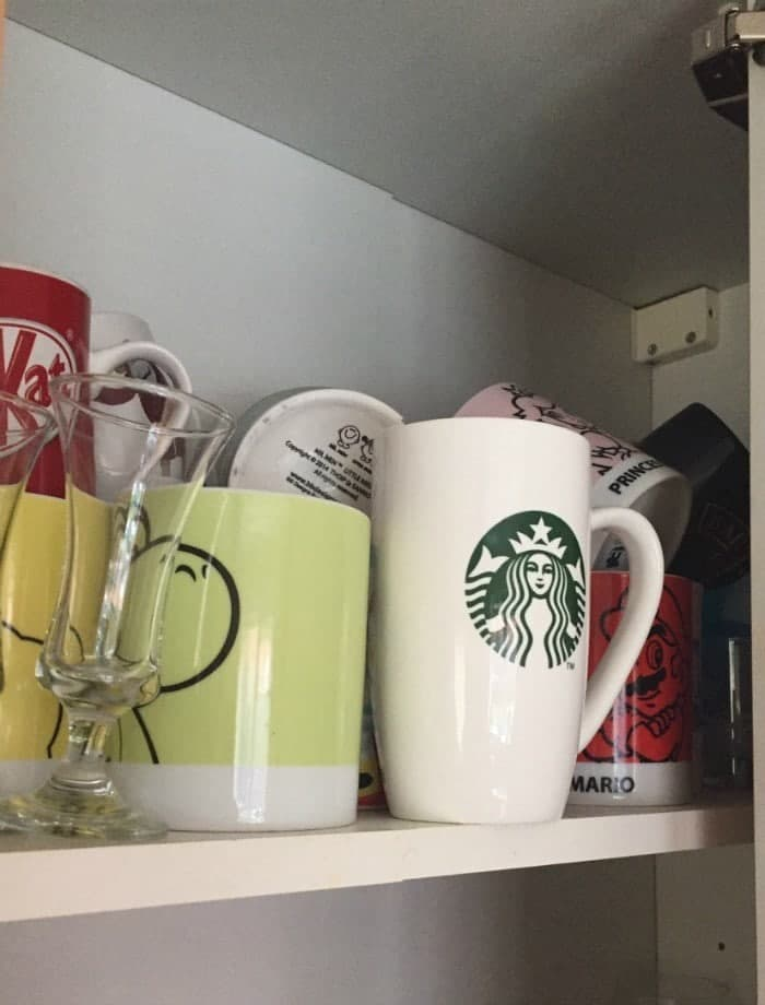 The Messy cup cupboard