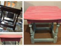 Using milk paints to upcycle furniture....