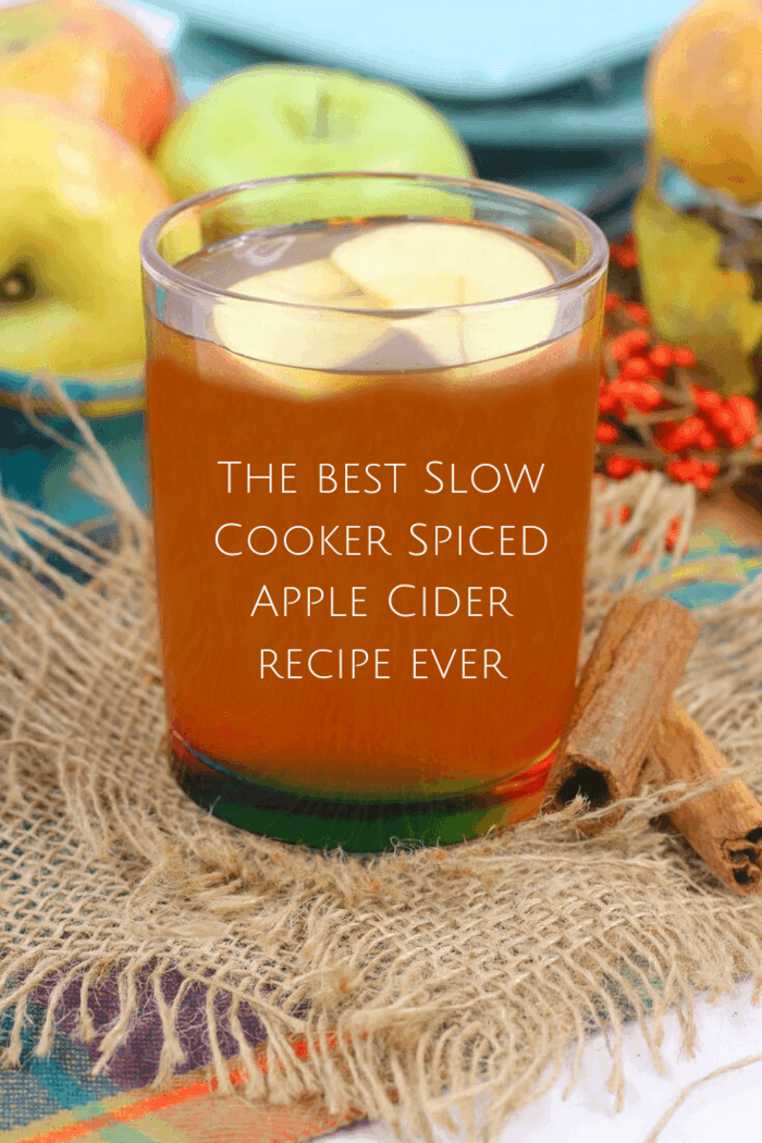 The best Slow Cooker Spiced Apple Cider recipe ever. #spicedapple #cider #slowccooker #crockpot #apples