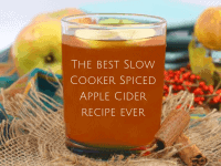 Slow Cooker Spiced Apple Cider (Non Alcoholic)....