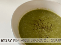 Herby Pea and Broccoli Soup....