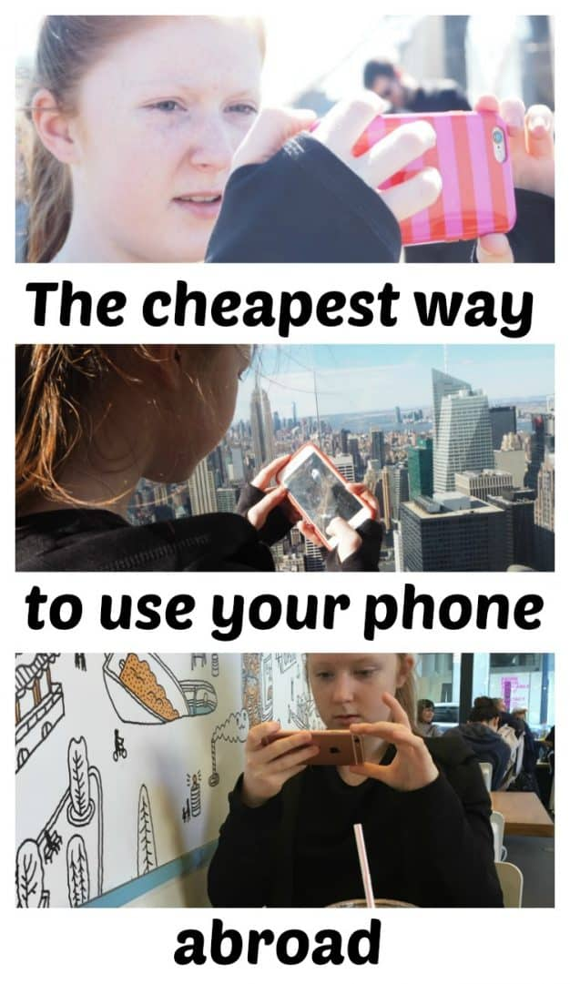 The cheapest way to use your phone abroad!
