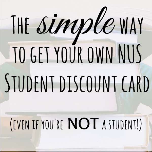 The easy way to get your own NUS card if you're not a student....