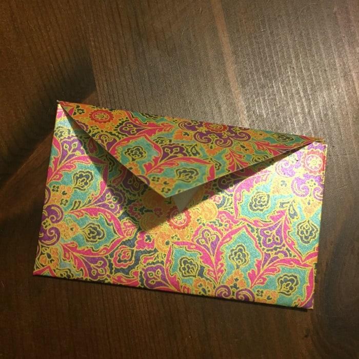 The finished envelope