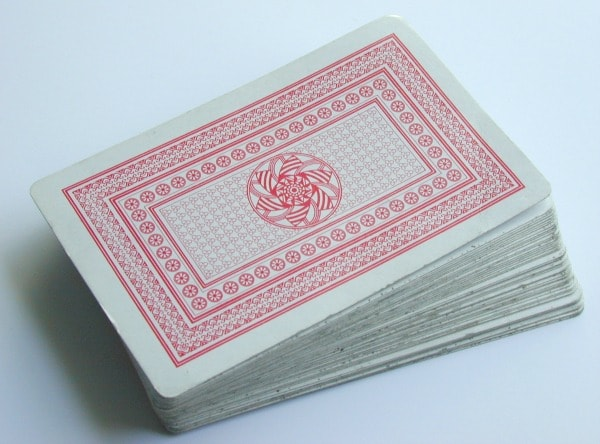 a deck of playing cards