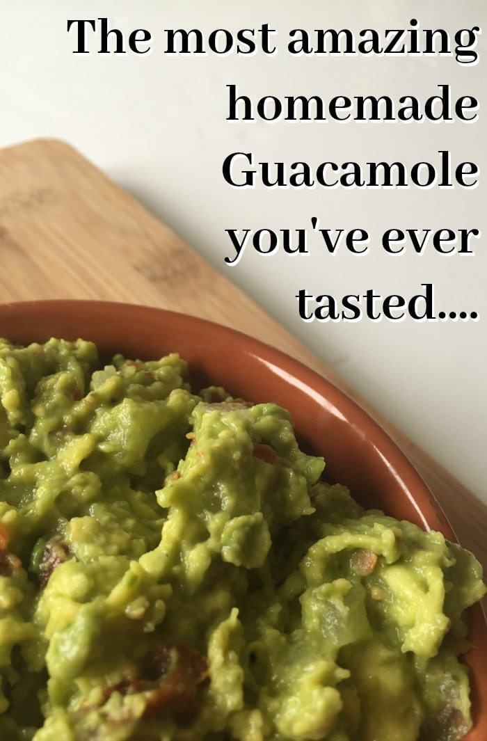 The most amazing homemade Guacamole you've ever tasted....