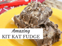 Amazing 3 ingredient Kit Kat Fudge...