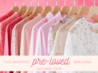 This month's pre-loved bargains {September 2020}....