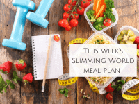 This Week's Slimming World Meal Plan {6th January 2020}....