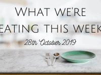 My Batch Cooking Meal Plan {27th October 2019}...