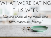 This week's meal plan - the one I batch cooked on Sunday....
