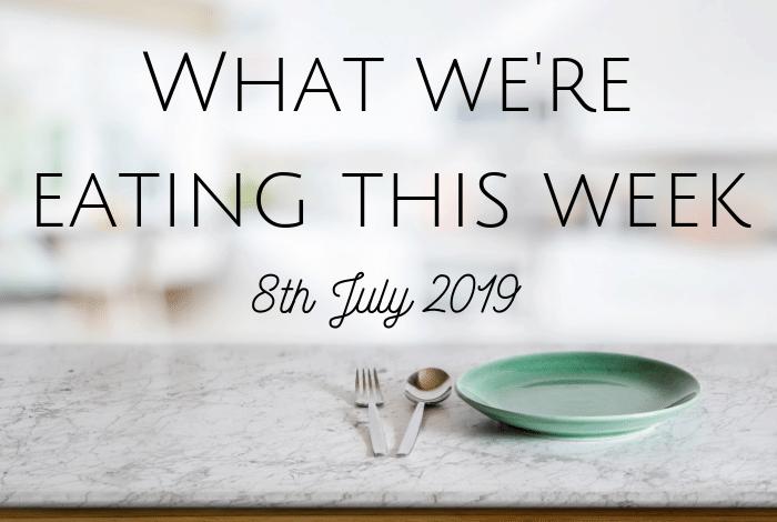 What we're eating this week.