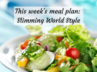 Meal Planning Monday - Slimming World Style....