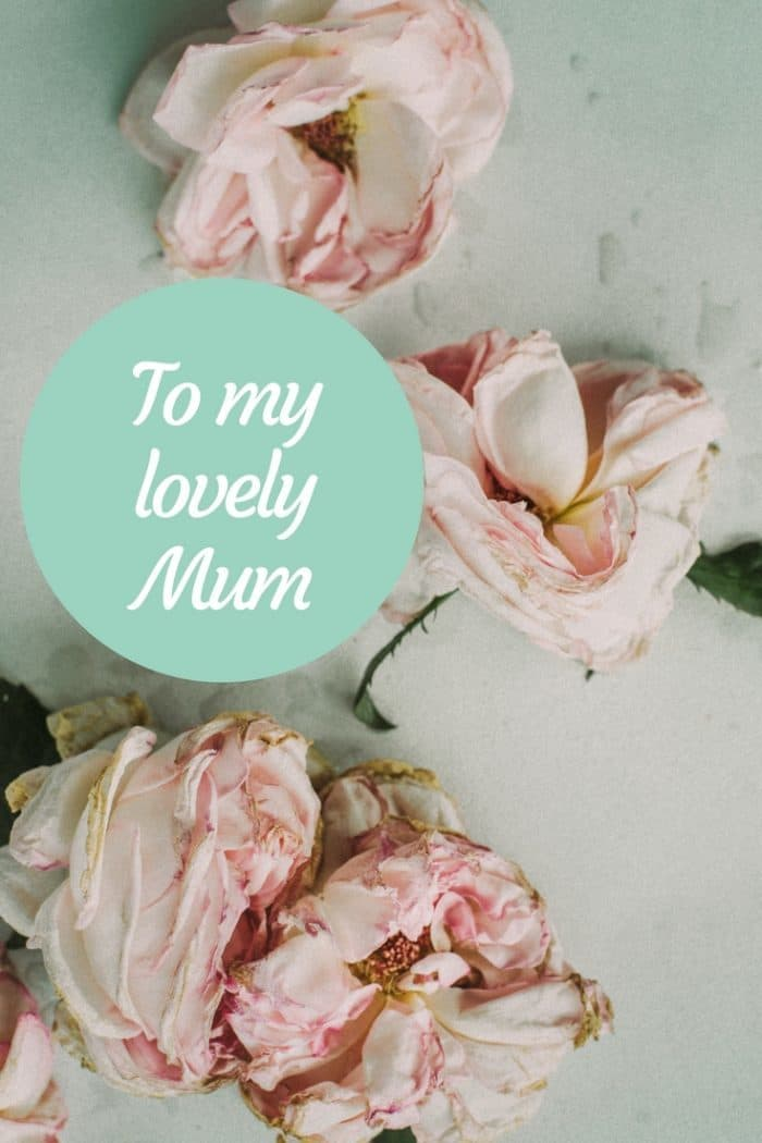 To my Beautiful Mum. I miss you every day.