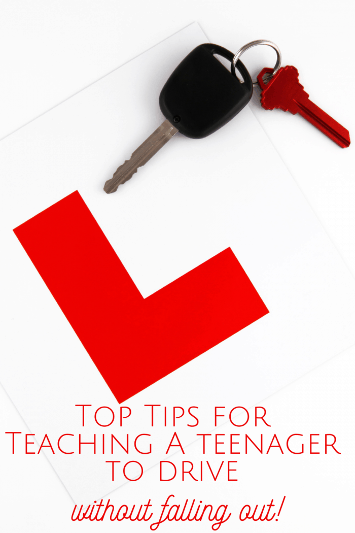Top Tips for teaching a teenager to drive without falling out!