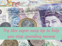 Try this super easy quick tip to help you stop spending money....