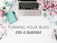 Turning a blog into a business....