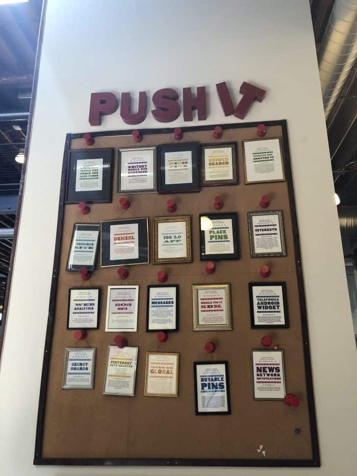 the pinterest push it board