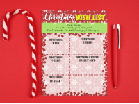 Christmas 'Something I want, Something I need' Wishlist {Free Printable}....