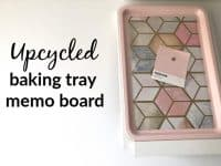 Upcycled magnetic baking tray memo board....