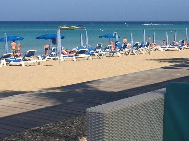 View from the Bikini bar at the Vrissaki Beach Hotel