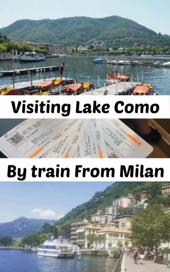 Visiting Lake Como by train from Milan