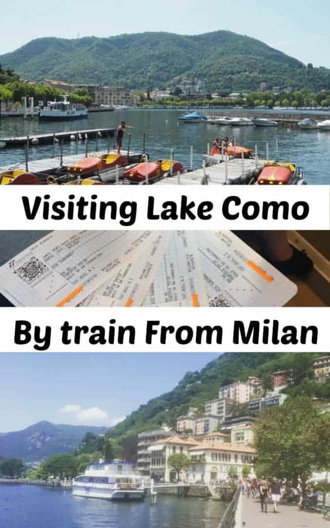 Visiting Lake Como by train from Milan