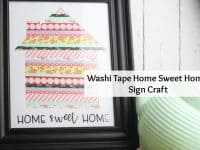 Super cute washi tape home sweet home sign....
