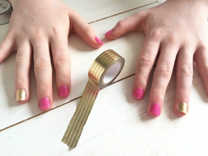 Washi tape manicure